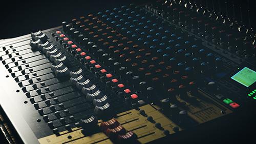 Studio Consol:  Tascam Model 24 Mixer Studio Test